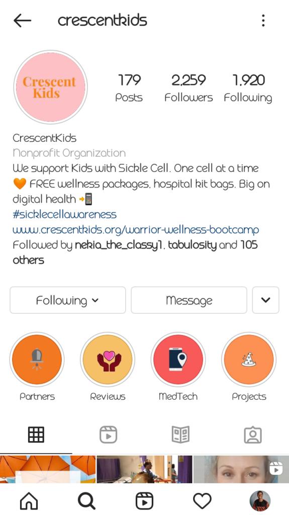 Crescent kids Instagram account