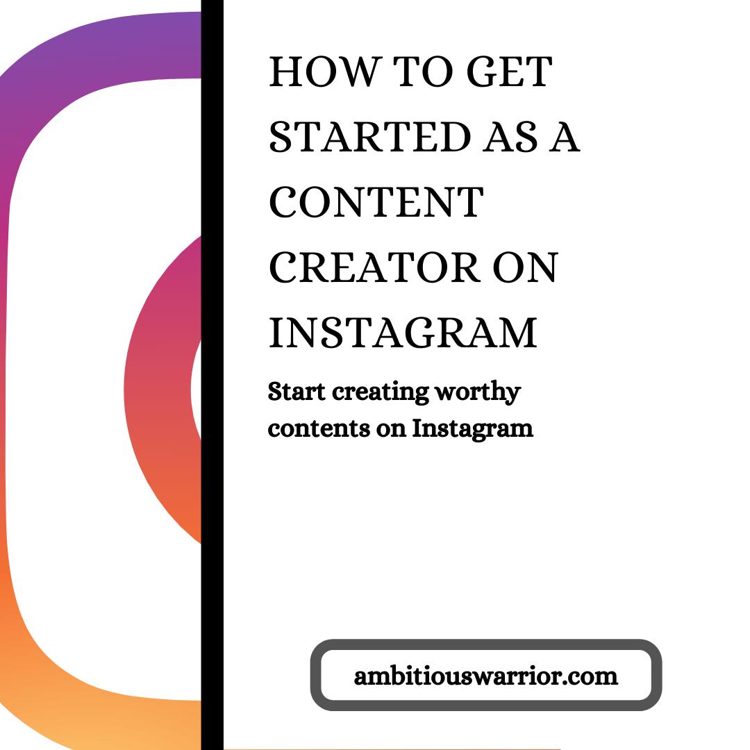 Content creator on Instagram